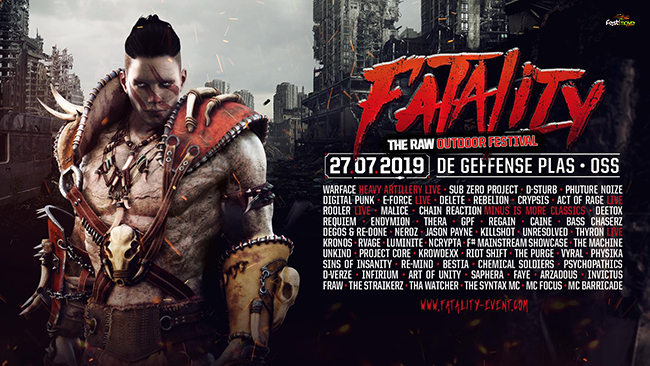 Fatality - The RAW Outdoor Festival - 27 Juillet 2019 - Geffense Plas - Oss - NL Fatali10