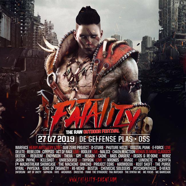 Fatality - The RAW Outdoor Festival - 27 Juillet 2019 - Geffense Plas - Oss - NL Fatali11