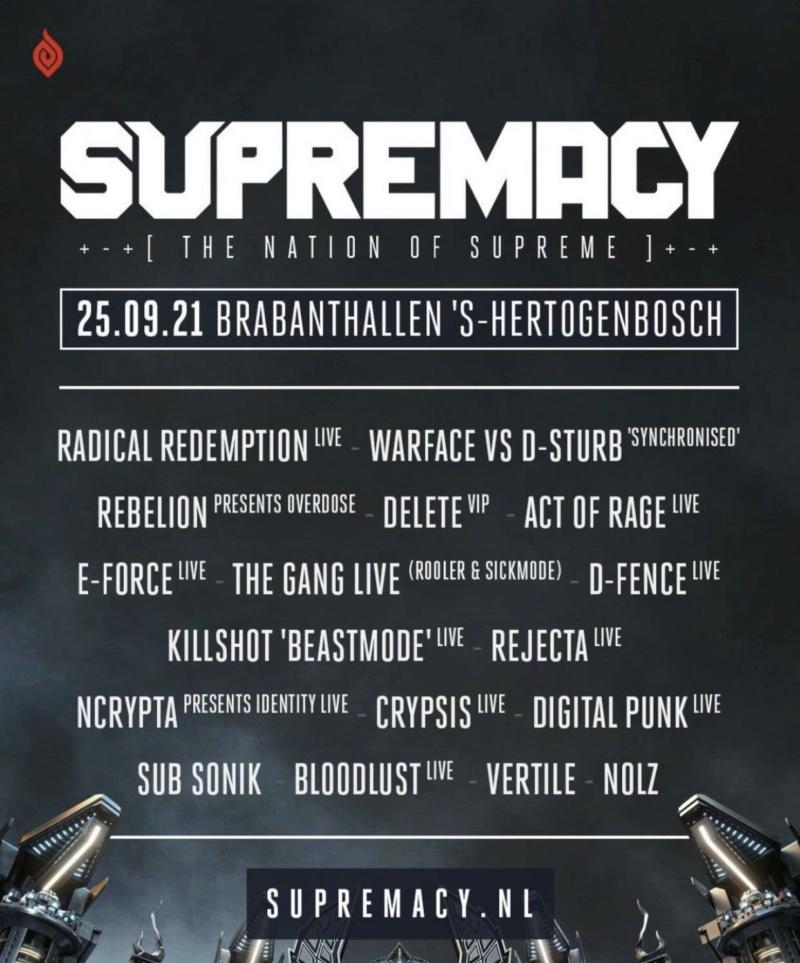 Supremacy - 24 septembre 2022 - Brabanthallen s-Hertogenbosch - Pays-Bas Line-u12