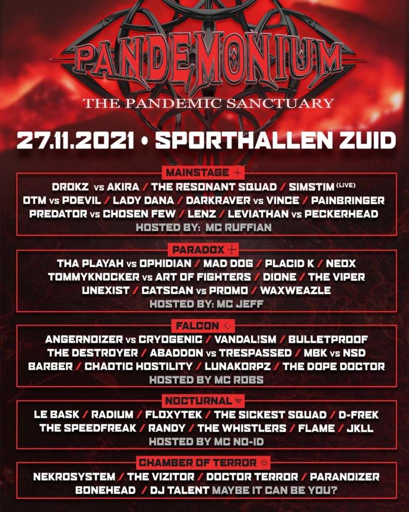 Pandemonium - 27 Novembre 2021 - Amsterdam - Sporthallen Zuid - NL Pandem21