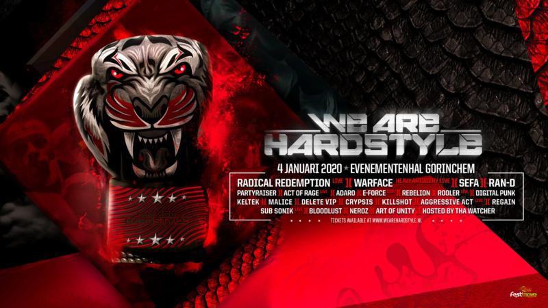 We Are Hardstyle 2020 - Samedi 4 Janvier 2020 - Evenementenhal Gorinchem - NL We-are10