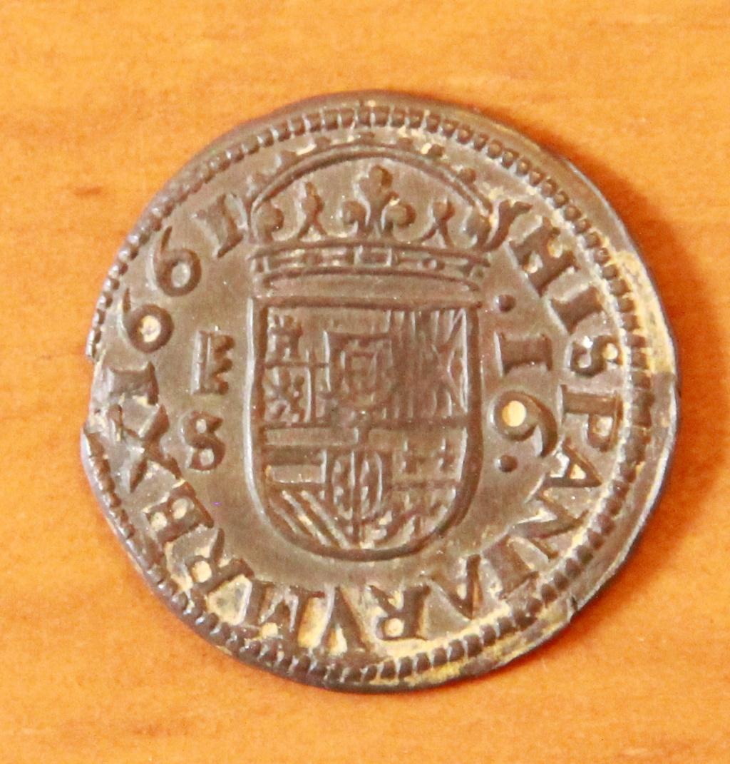 16 maravedies de Felipe IV de Segovia, 1661 14_rev10
