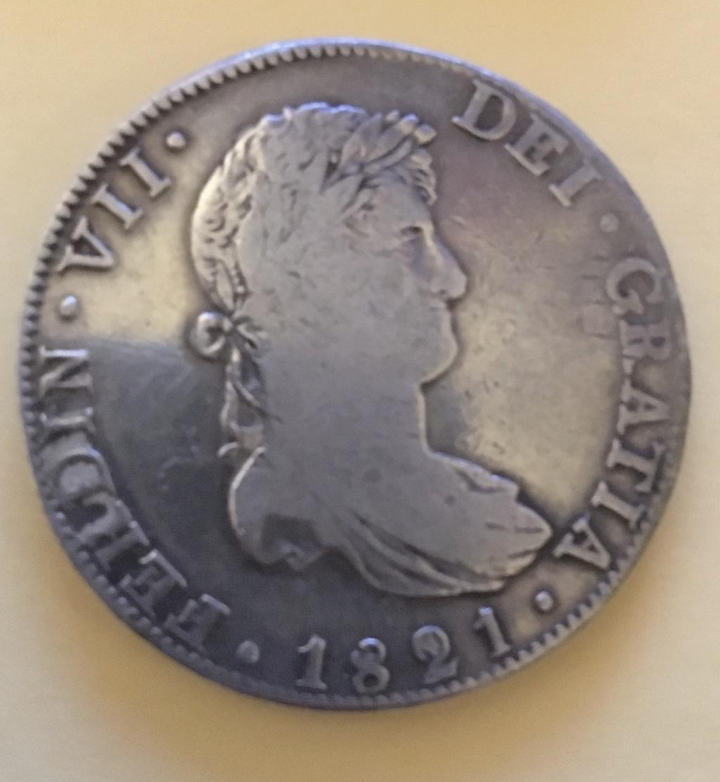 8 reales Fernando VII. 1821. Méjico. 2-55_a10