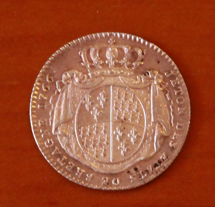 Jetón Luis XV. 1766 27_rev10