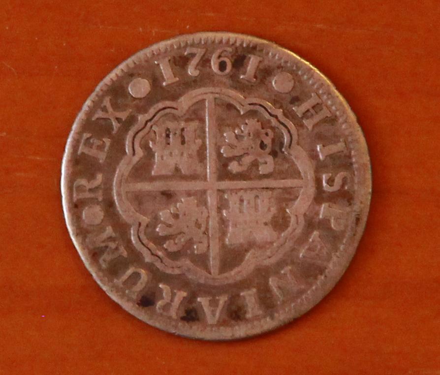 2 reales. Carlos III. 1761. Madrid. JP 28_anv10