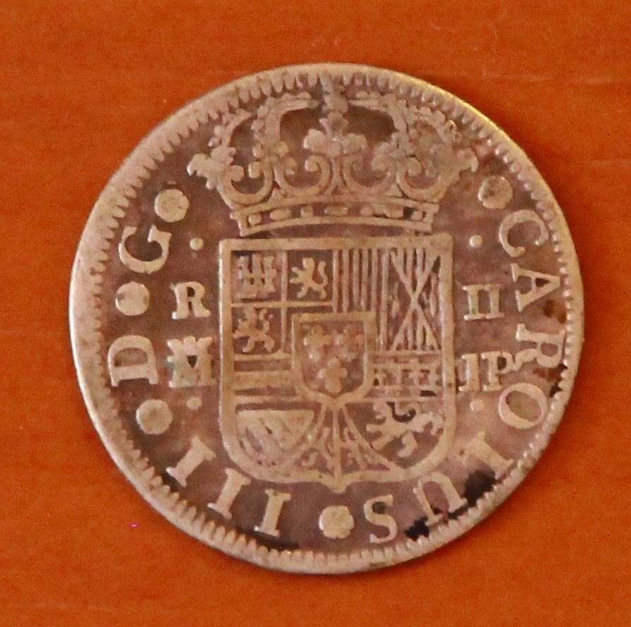 2 reales. Carlos III. 1761. Madrid. JP 28_rev10