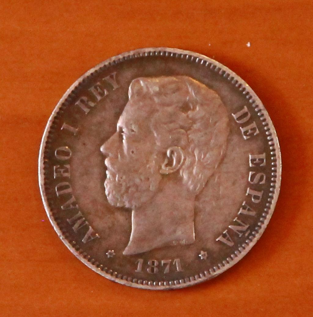 5 pesetas 1871 (*18-75). Amadeo I 29_anv10