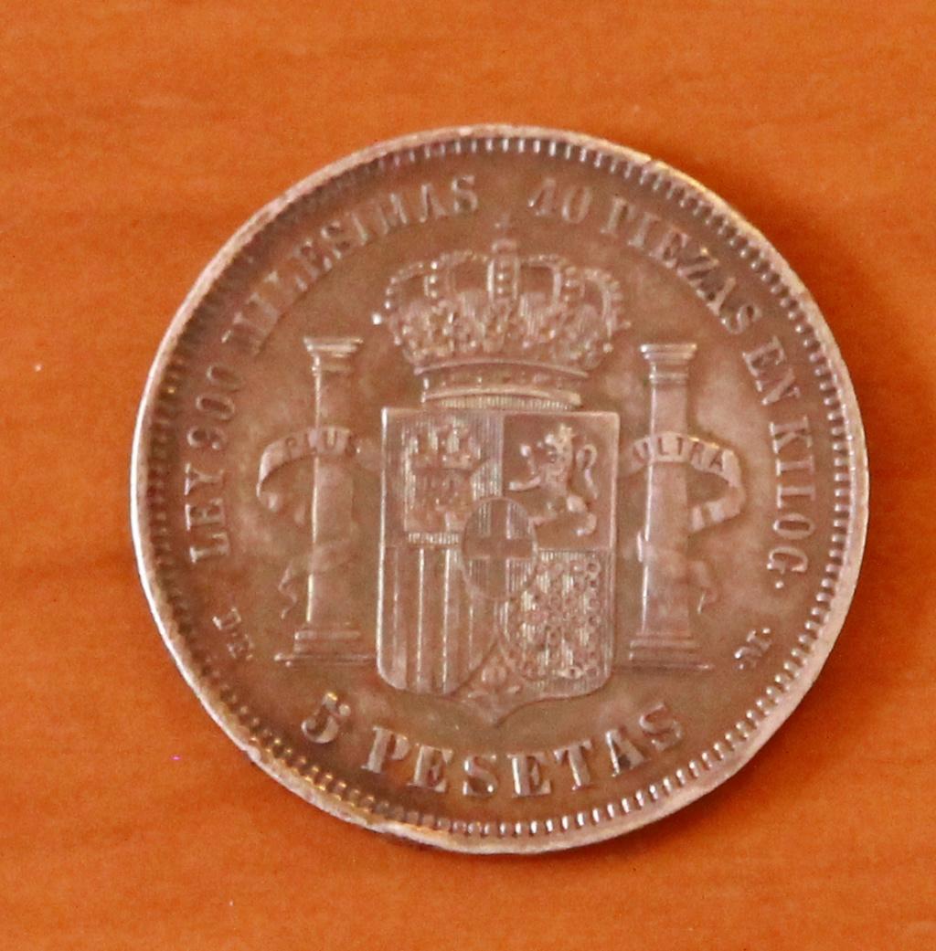5 pesetas 1871 (*18-75). Amadeo I 29_rev10