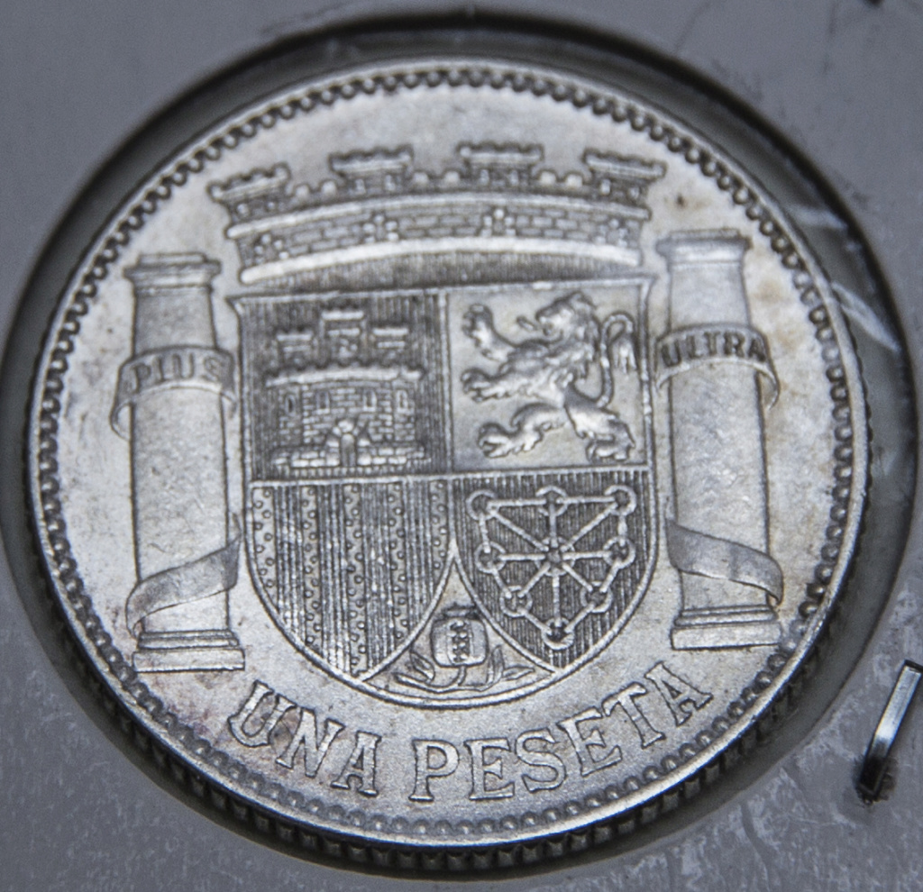 1 peseta 1933. República Española Detall10
