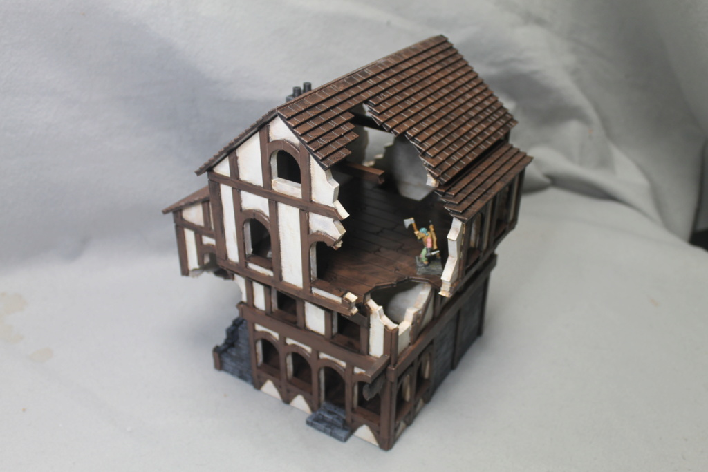 A few more 3d printed buildings Tavern10