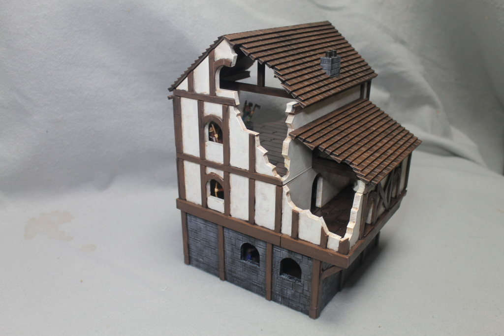 A few more 3d printed buildings Tavern11