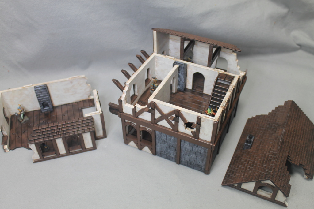 A few more 3d printed buildings Tavern13