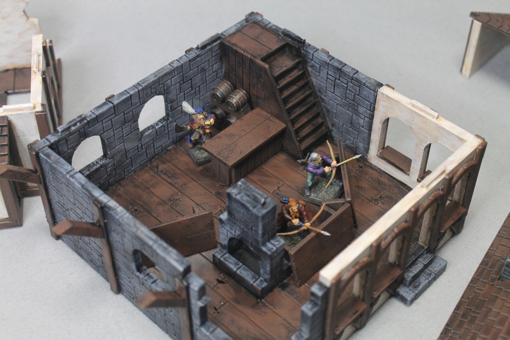 A few more 3d printed buildings Tavern15