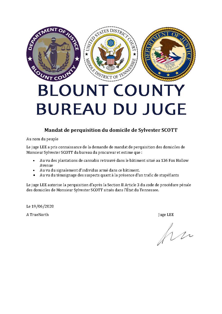 [Classé] (GTF)Transmission d'un dossier au bureau procureur #1 Mandat15