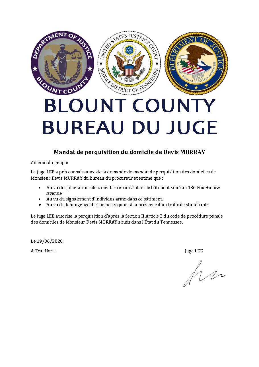 [Classé] (GTF)Transmission d'un dossier au bureau procureur #1 Mandat16