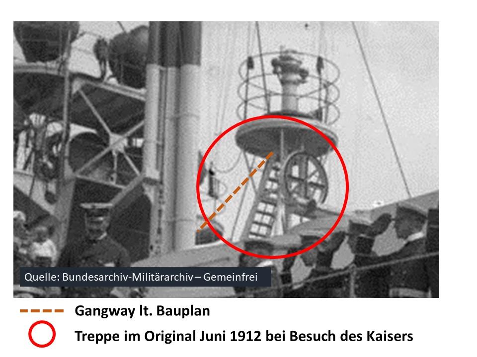 SMS OLDENBURG (1910), GPM, 1:200 (auch OLDENBURG, die Dritte)geb. von Bear58 - Seite 2 Treppe10