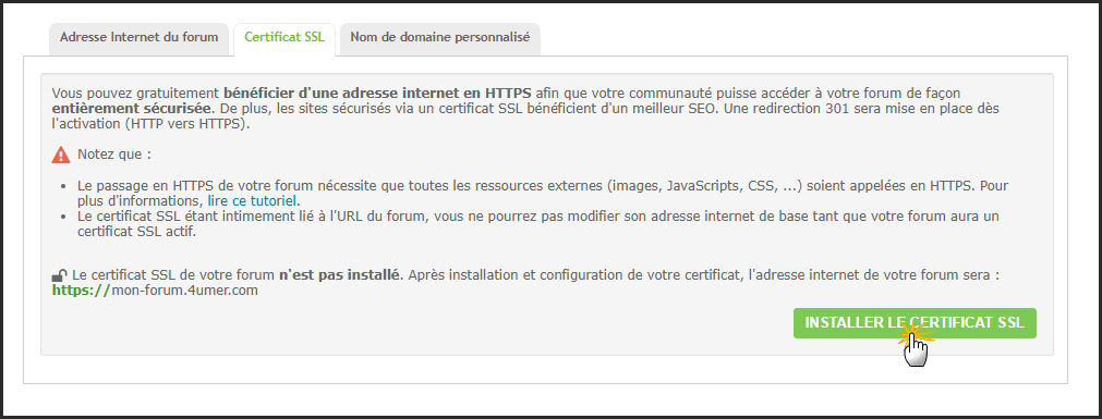 Certificat SSL : Guide d'un passage réussi du forum en HTTPS 10-10-12