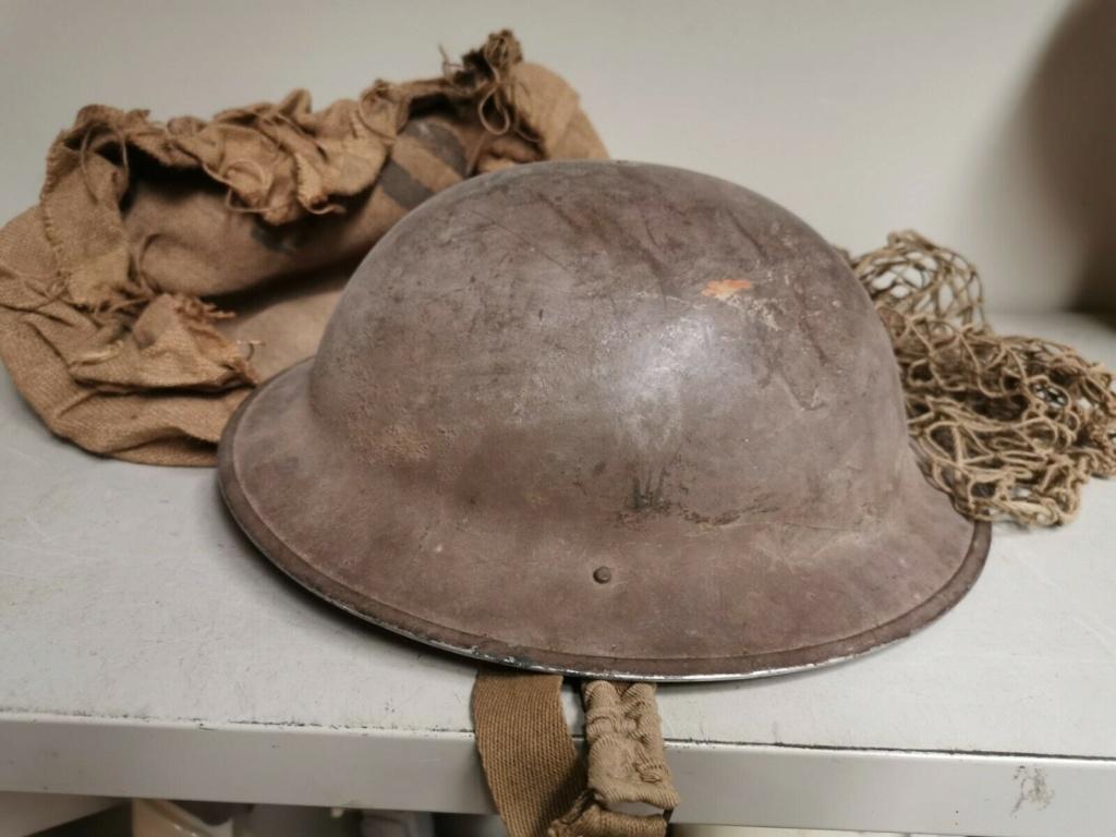 casque brodie filet seconde guerre un peu spécial S-l16028