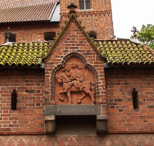 Templar Knight bas-relief clay tile backstamp! - The Cadinen / Kadyny, Mai Malbor10