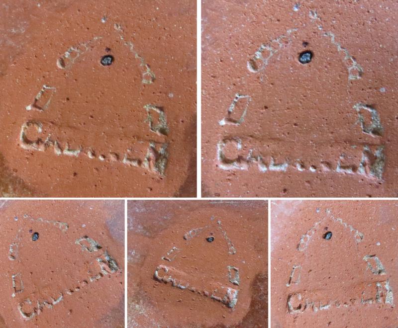 Templar Knight bas-relief clay tile backstamp! - The Cadinen / Kadyny, Mai Templa10