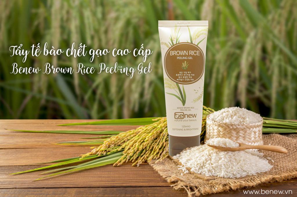 Tẩy tế bào chết Gạo cao cấp - BENEW Brown Rice Peeling Gel 120ml Tay_tb10