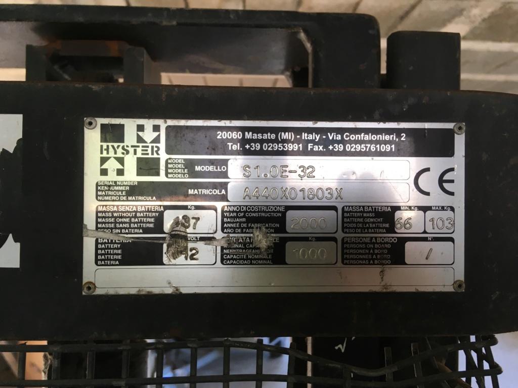 Gerbeur électrique hyster s1.0e-32 00c4b210