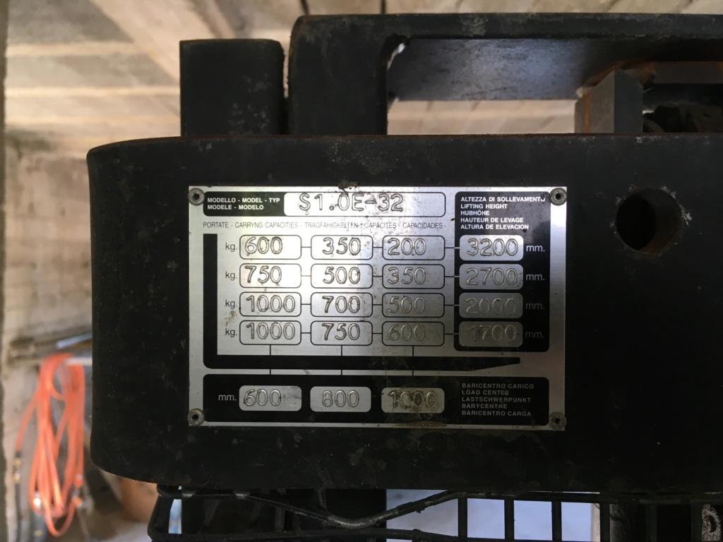 Gerbeur électrique hyster s1.0e-32 72482e10