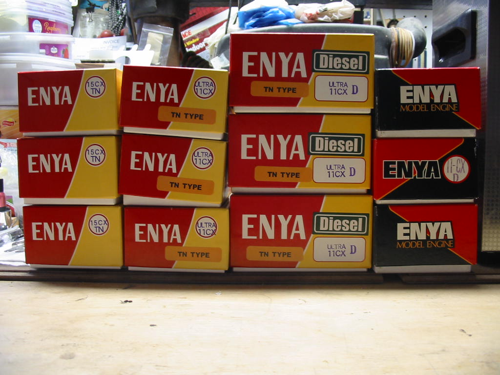 Last of the Enya Diesel engines purchased off of Enya's website. Enya_o11