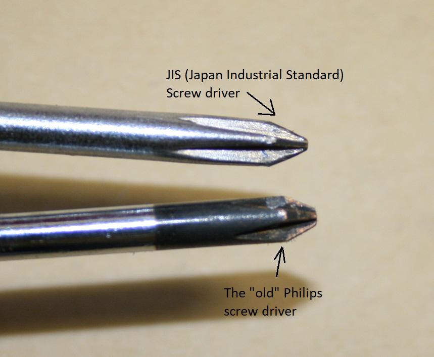Why do you need a JIS screw driver set? Jis_vs10
