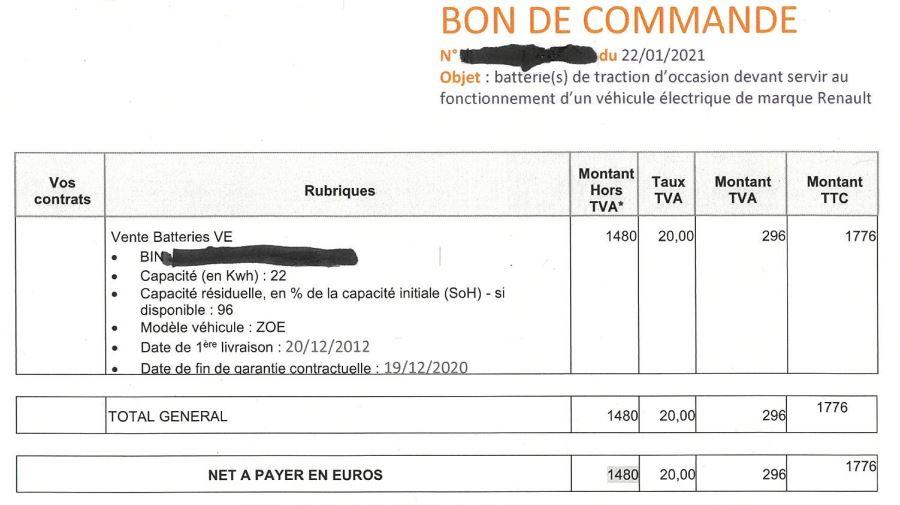 Qui a acheté sa batterie qui était en location ? (recensement des acheteurs et des propositions de Diac) I Bon_de11