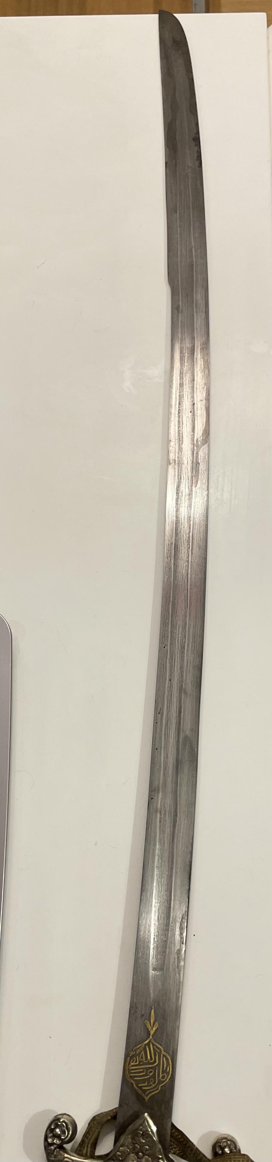 sabre oriental, kilij ottoman fin XIX  F3d27410