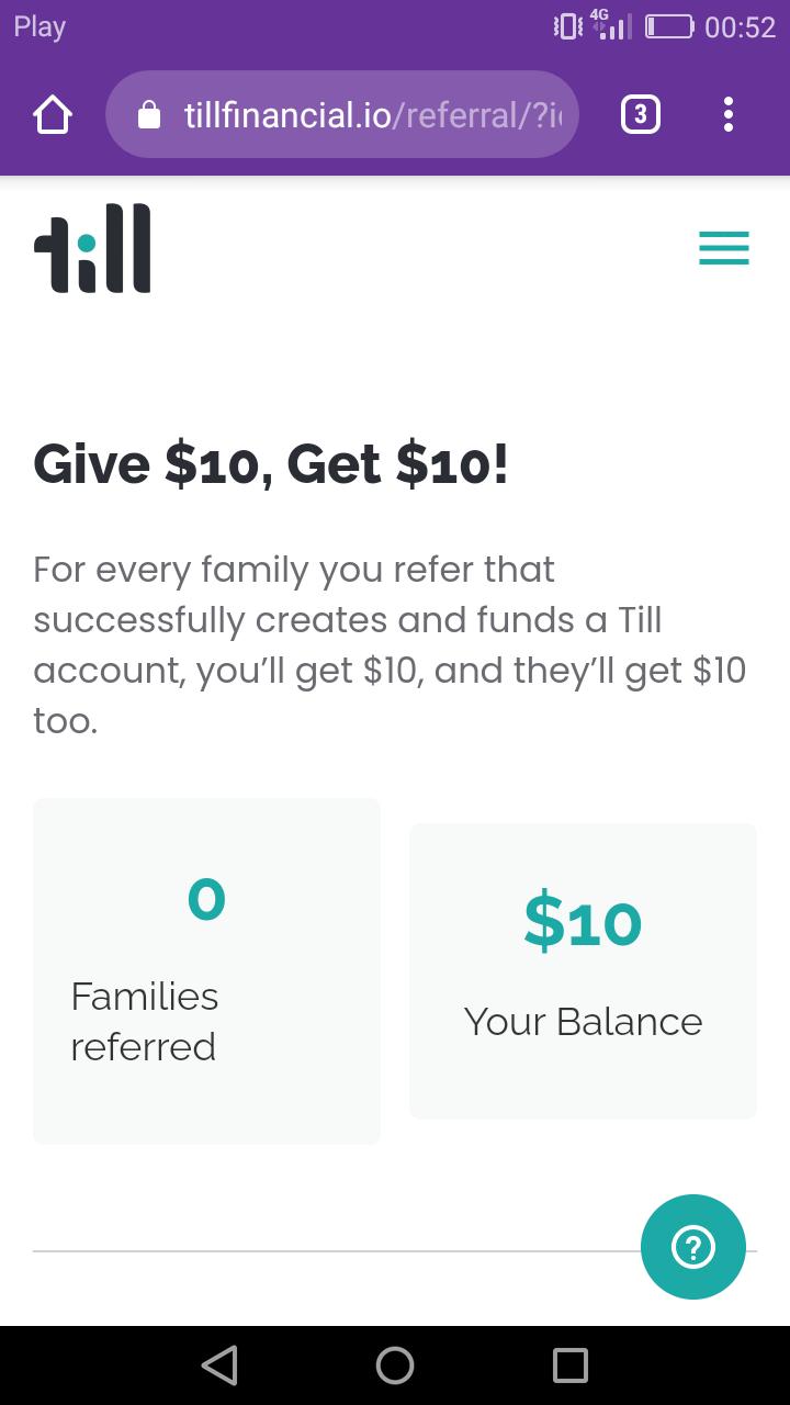 Till Financial 10$+10 ref Screen16