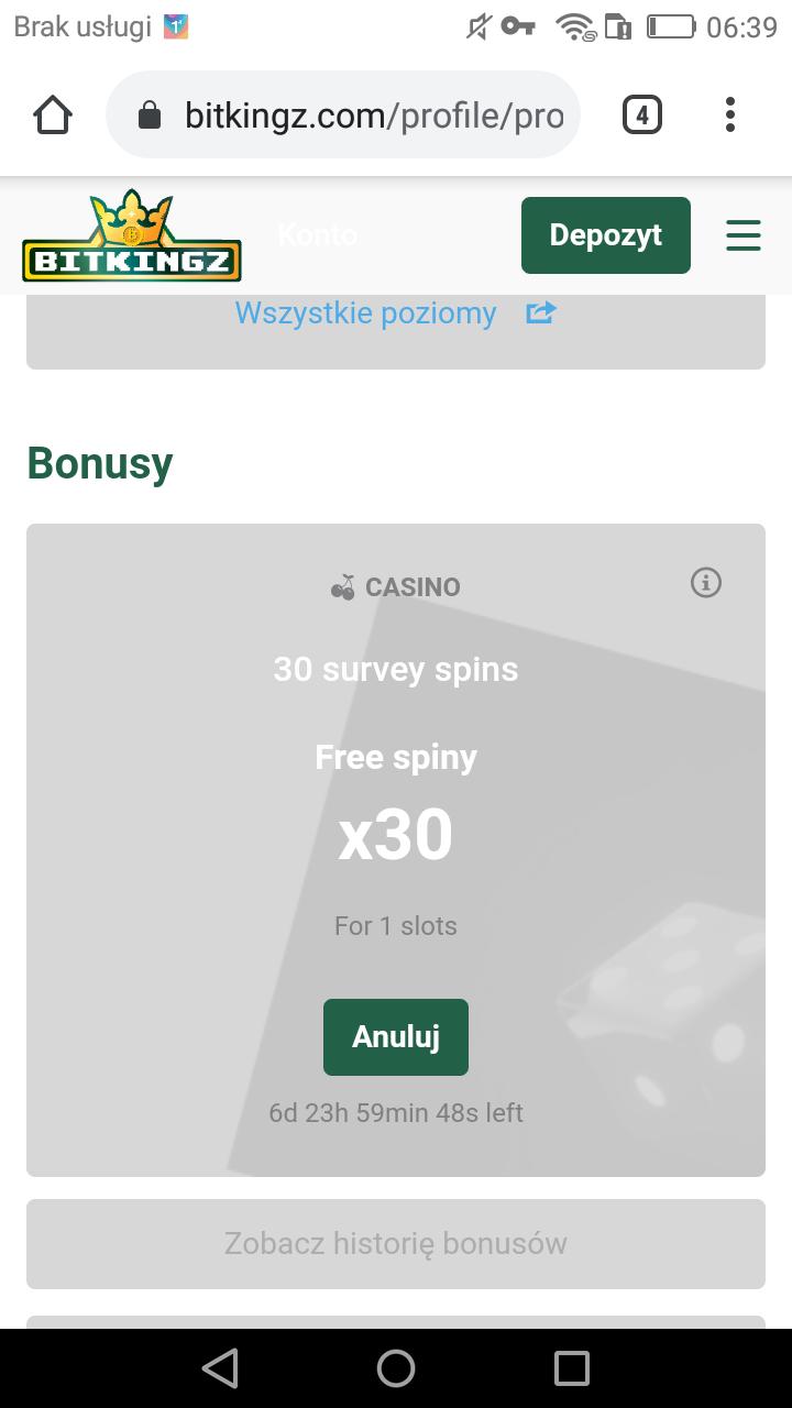 Bitkingz Kasyno Online 55 free spins bez depozytu Screen19