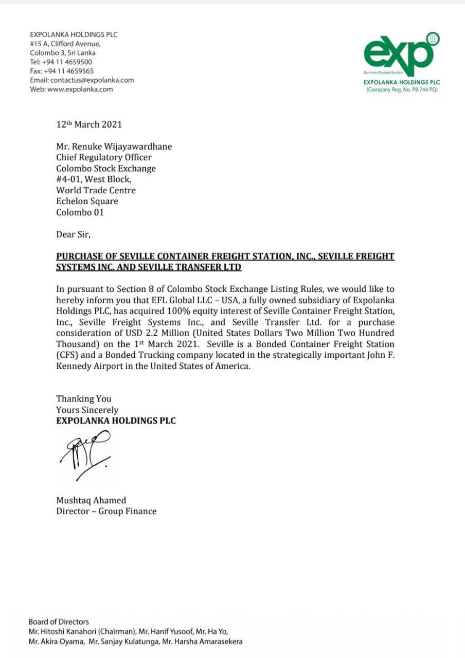 EXPOLANKA HOLDINGS PLC (EXPO.N0000) - Page 38 Whatsa19