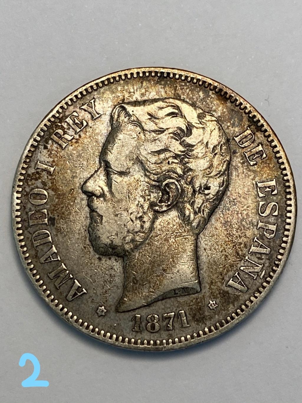 5 pesetas de 1871*71. Amadeo I. 2_cara11