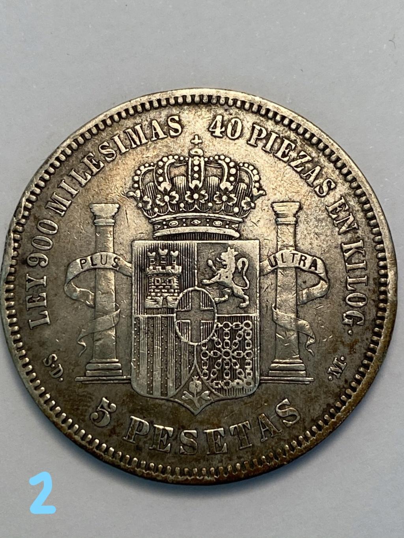 5 pesetas de 1871*71. Amadeo I. 2_reve10