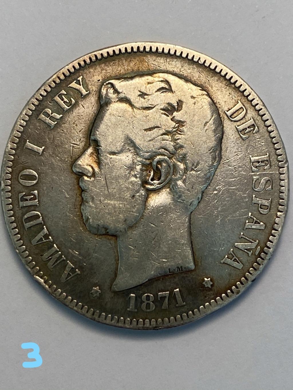 5 pesetas de 1871*71. Amadeo I. 3_cara10