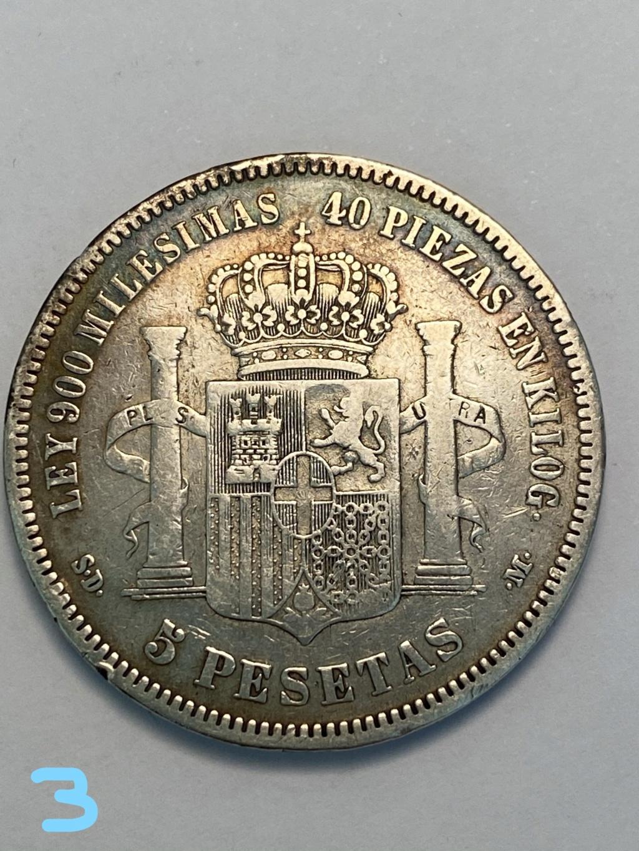 5 pesetas de 1871*71. Amadeo I. 3_reve10