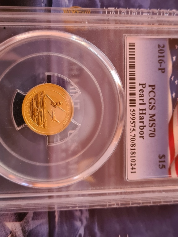 Gold 75th Anniversary of Pearl Harbor MS70 20210711
