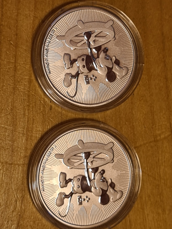 Steamboat Mickeymouse 2017 Silver coins  20210718