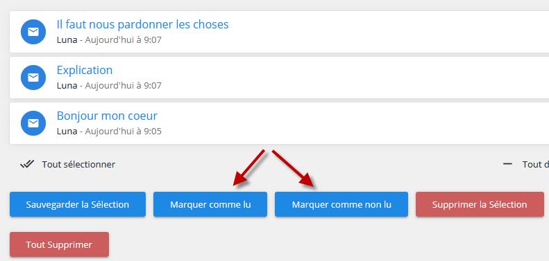 Messagerie privée : nouvelle option « Marquer comme lu / non lu » Marque11
