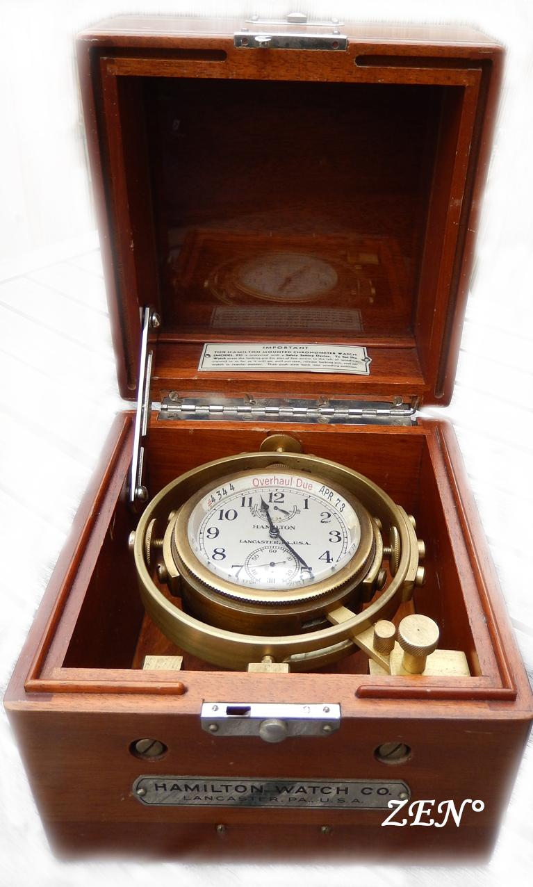 L'épopée des premières montres à bord des navires militaires Hamilt40