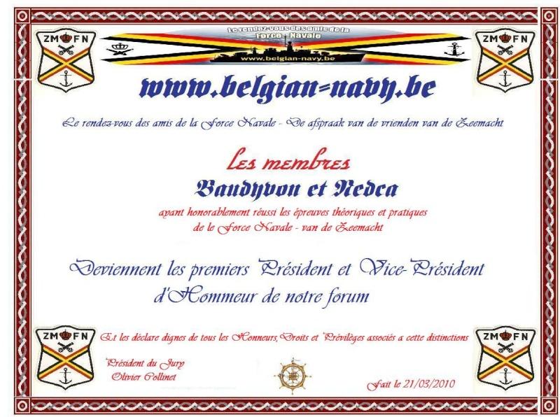 Le Président d'Honneur de notre forum Diplom13