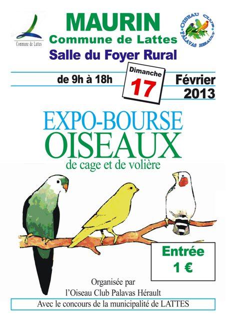 Les bourses de: l'OCPH (oiseau Club Palavas Hérault). Affich13