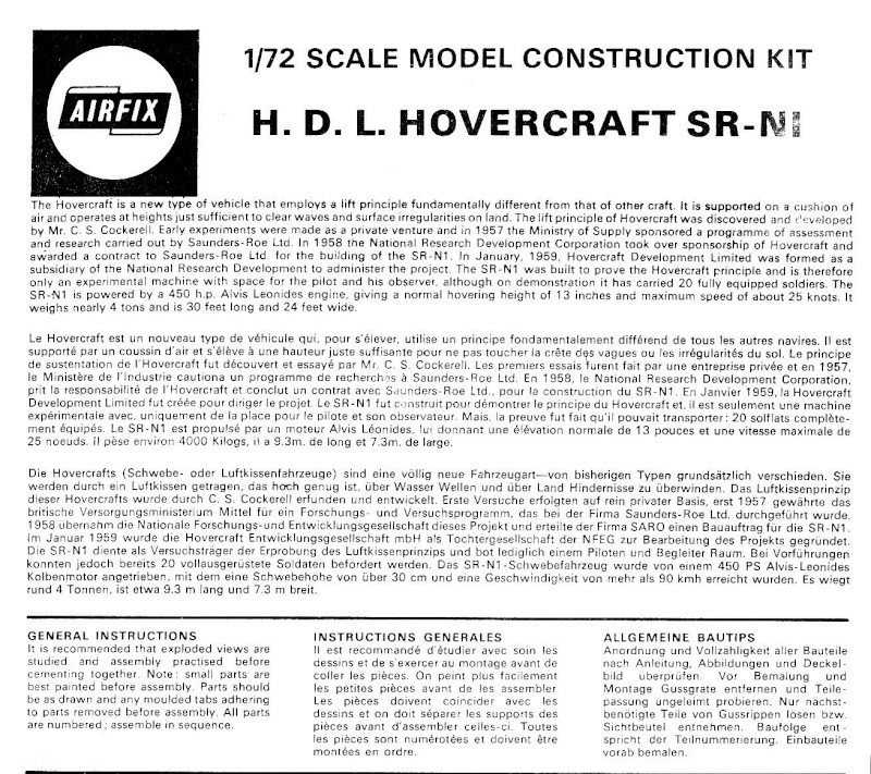 Hovercraft development Ltd (H. D. L.) SR-N1, Airfix, 1/72, 1960 Img_0181