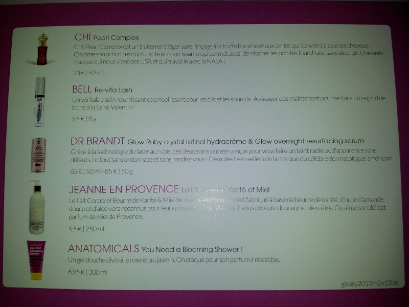 "[Février 2013] Glossybox ""Alchimie"" - Page 6 2013-012"