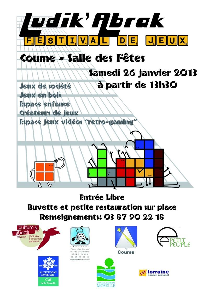 Festival LUDIK'ABRAK à Coumes le 26/01/13 Affich10