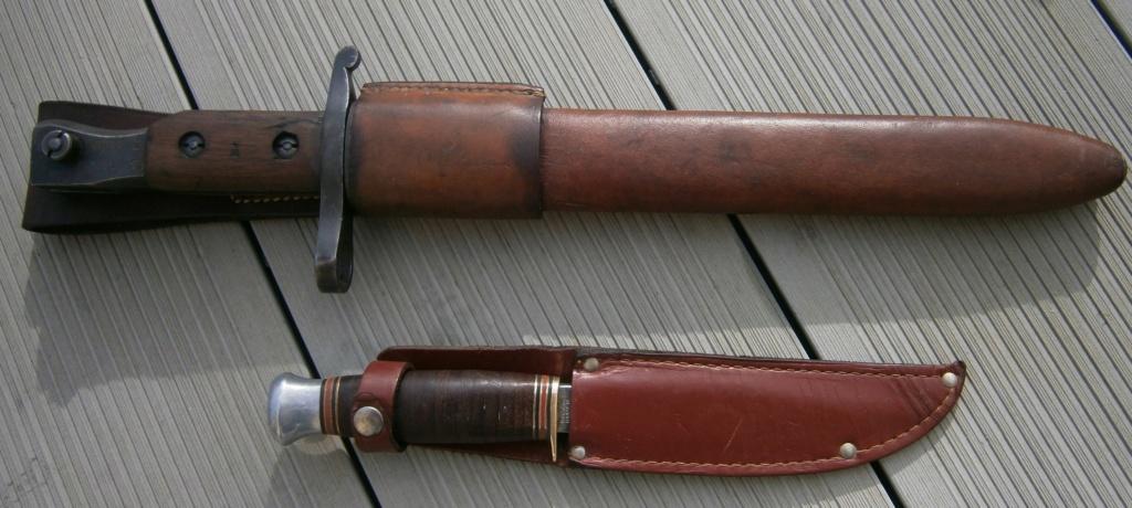 baionnette canadienne modèle 1910 et petit couteau anglais P2210011