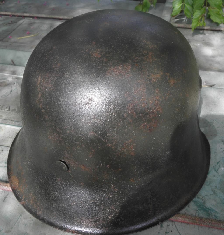 casque allemand ww2 direct du grenier dans le finistère nord P8110013