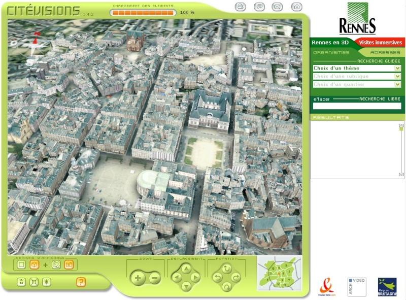 Pages jaunes / villes 3D Rennes10